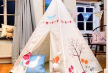 Kids Teepees / wigwams / dens personalised and made in UK www.izabelapeters.com / Designed, printed and made by us exclusively in our UK boutique workshop. Perfect for home, nurseries, schools these teepees encourage kids to play and use their imaginations on their own or with friends and family. www.izabelapeters.com