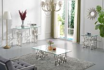 Alexis Occasional Table Collection / Alexis Occasional Table Collection- Meridian Furniture -   Upgrade your living room with the Alexis Collection. Beautiful modern design with Chrome finished  stainless steel base and thick glass tops.  No better way to modernize your home than with these tables!