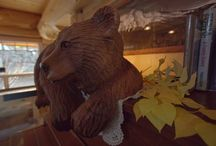 Bear Necessities / Take a closer look at the magnificent mama and baby bear carved by Pete Ryan and Mark Colp.