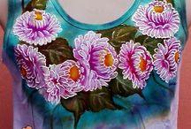 Pintura em tecido / Pinturas em tecido   técnicas variadas. Pesquisa feita no Pinterest