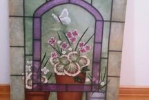 Faux Stained Glass / It's hard to believe these are not real!