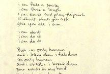 Lyrics. / by Corina Flores