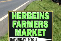 Herbeins Farmers Market / Saturday's 9am-1pm... Vegetables, fruits, meats, cheeses, eggs, breads, cakes, and much more...