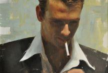 Art - Paintings - A Man -