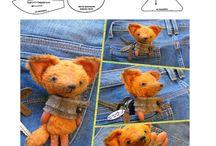 Выкройки лис/ fox pattern