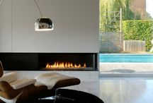 Moderne Haardopstelling / Haarden, kachels, schouwen, fireplace, wood, gas, veghel, showroom, vuur, fire, modern, stijlvol, hoekhaard, gashaard, houthaard, fronthaard, 3-zijdige haard