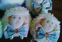 Móbile ovelha menino / um mobile charmoso e delicado para acalmar o bebe!!