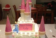 Princess castle cakes
