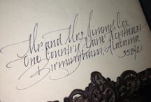 Handwritten calligraphy fir announcements, weddings, place cards... Elizabeth f Williams@charter.net / by Elizabeth F. Polland