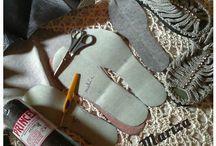 calçados de crochê