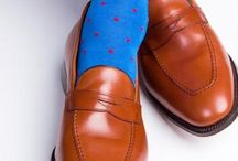 Loafers and socks