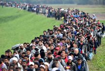 REFUGEES (not migrants) on the move to Germany 2015 / refugees (those who are forced to leave their homes due to war) from war torn Syria, Iraq, Afghanistan and african countries on the march to germany while border is open...october 2015...photos from the atlantic