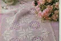 crochet dolies ,table covers