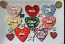 ceramic hearts wedding favors