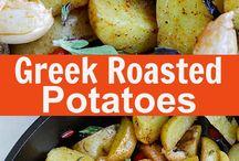 Greek Roasted potatoes
