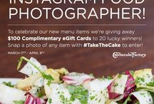 Take The Cake Instagram Contest / Can YOU Take the Cake? Instagram a photo of any item from our menu with ‪#‎TakeTheCake‬ to enter for a chance to win a $100 Complimentary eGift Card!  See Official Rules at http://bit.ly/TakeTheCakeRules