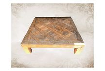 coffee table / joining every pieces of wood to become a coffee table.