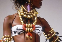 afro, colourful and silver jwls