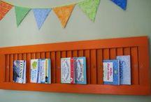 detská domáca knižnica // book shelves for kids / Ako tvorivo vystaviť detské knihy