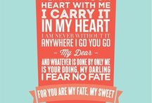 Verses & Readings I Love / Divine inspiration for Readings & Sweet Verses, for your Wedding Ceremony.