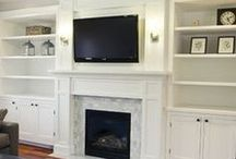 fireplace built-ins / by Sandy Huot
