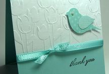 Tulips embossing cards