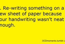 My OCDness....