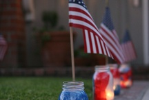 Americana / Decorating ideas for Patriotic holidays, i.e. Memorial Day & 4th of July / by Kristi Bible