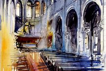 Watercolor Interior