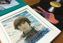"rock / george harrison's ""living in the material world"" on a vinyl record & a film. i love both because i could understand his way and thought of life : )"