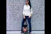 Amanda Chic - Cimmarron jeans Paris with Pinkbasis shoes