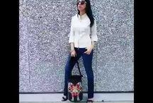 Amanda Chic - Cimmarron jeans Paris with Pinkbasis shoes