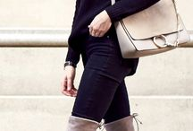 Beige High Boots Outfit