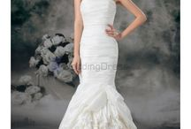 Mermaid Wedding Dresses / Taffeta Strapless Sweep Train Mermaid Wedding Dress / by eweddingdress