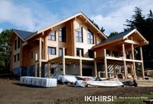 IKIHIRSI® Log House Model CH3-550 / Finnish Design Log House Combined Ecological House with 3 levels.