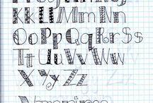 écriture / lettering / handwriting