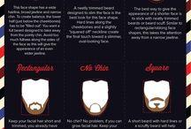 barbă în FC de forma feței