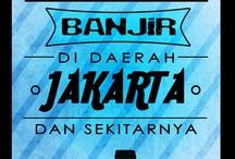 BANJIR KOTA JAKARTA / Merespon isu banjir di kota Jakarta, awal tahun 2013.
