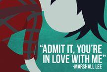 Marceline and Marshall Lee