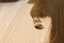 Steel wool & vinegar wood stain