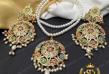 jewellery gold indian earrings