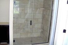 Glass Shower Enclosures / http://www.glglass.net/shower-enclosures-custom-mirrors