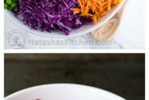 Potato and cabbage salads