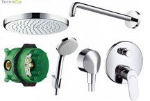 Podtynkowe baterie prysznicowe / Kompletne zestawy prysznicowe do każdej łazienki i na każdą kieszeń. Markowi producenci tacy jak Kludi, Grohe, Hansgrohe