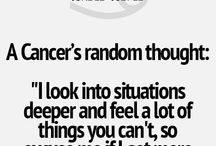 June 22- CANCER -July 22 / Beliefs about cancers that I can relate to as a fellow cancer.