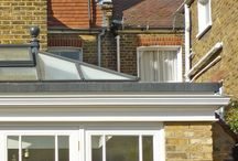Orangery fascia: Just Roof Lanterns / A beautiful perimeter edge fascia (with guttering) can be applied to transform a masonry extension into a building with a level of elegance and gravitas that truly reflects the essence of an orangery.