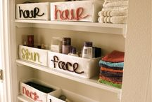 Easy, cute organization for toiletries.