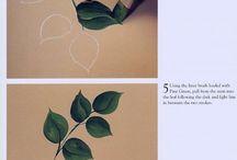 Уроки живописи. Листики.