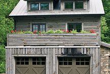 garage doors / by Folk Artist Sue Corlett