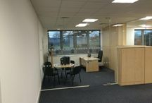 Chelmer Housing Partnership / The installation of glazed and solid partitioning including full height glass doors, seamless glazing with manifestation.